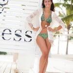 fotomodel op het strand