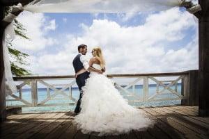 Bruidsreportage op het strand van Curacao